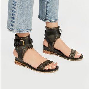 A.S. 98 Free  People Tessa Mini Wedge Sandal NWT